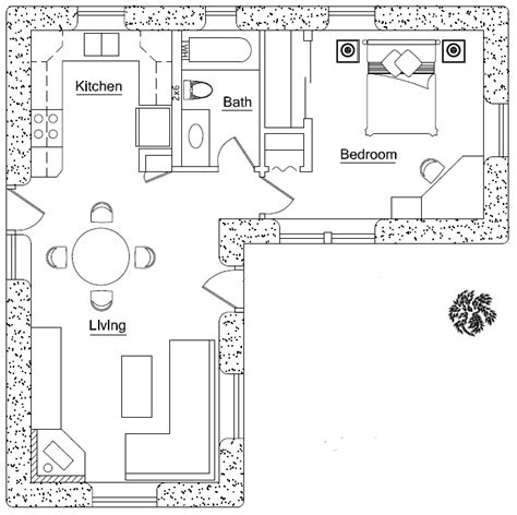 l pattern house plan l shape earthbag house plans