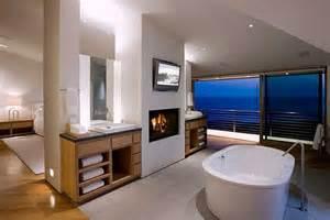 Modern bathroom design in beach home interior design