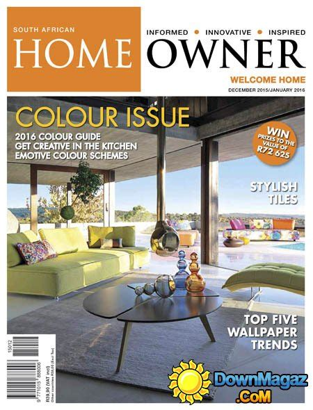 home design magazines south africa south african home owner december january 2016