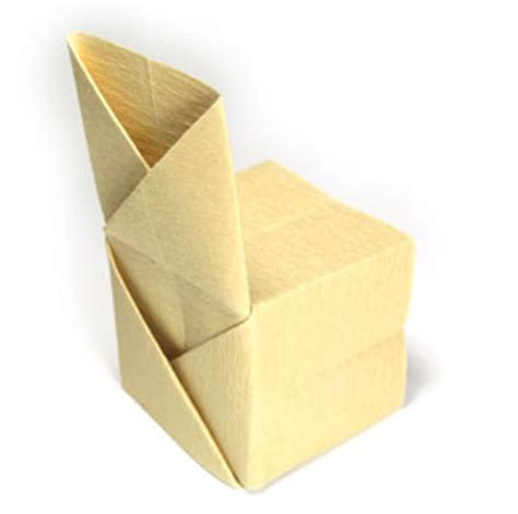 How To Make A Paper Chair - how to make a regular origami chair page 1