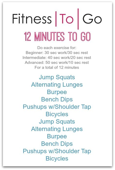 workout wednesday the beginner s exercise plan wednesday workout fitness to go