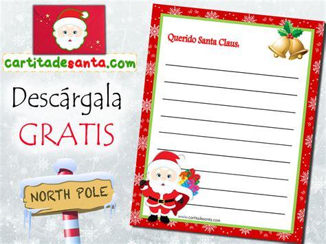 imagenes de cartas a santa claus carta para santa claus imprimible gratis alofiesta com