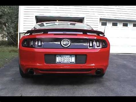 2013 mustang mufflers 2013 mustang gt with stock and then gt500 mufflers