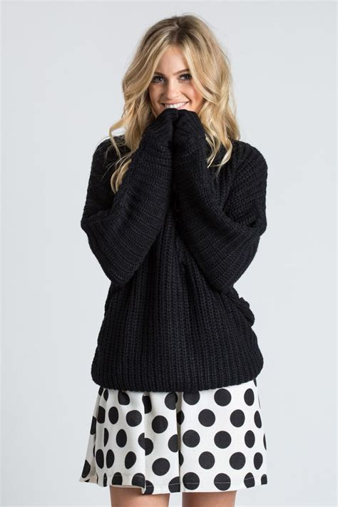 Sweater We Black this black tutleneck sweater is just so cozy we how warm and versatile this sweater is to