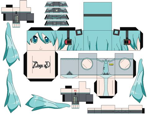 Miku Papercraft - hatsune miku by zienaxd on deviantart