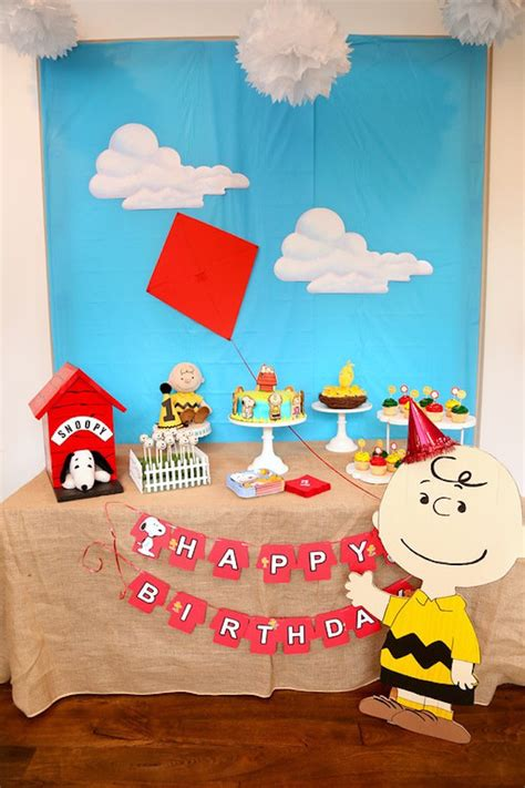 Snoopy Birthday Decorations by Kara S Ideas Peanuts Brown Birthday