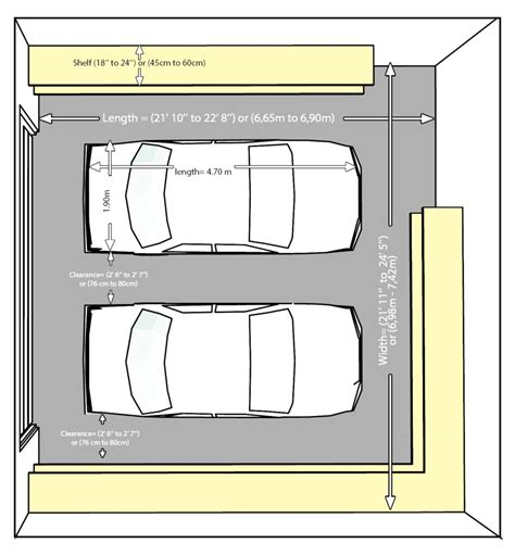 dimensions of two car garage size and layout specifics for a 2 car garage garage