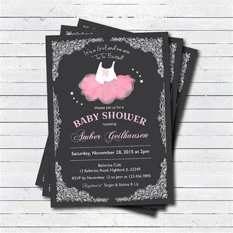 Tutu Baby Shower Invitations by Baby Ballerina Tutu Invitations Ideas