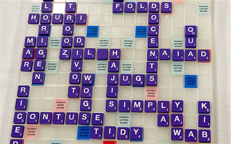 craziest scrabble see the board from the national scrabble
