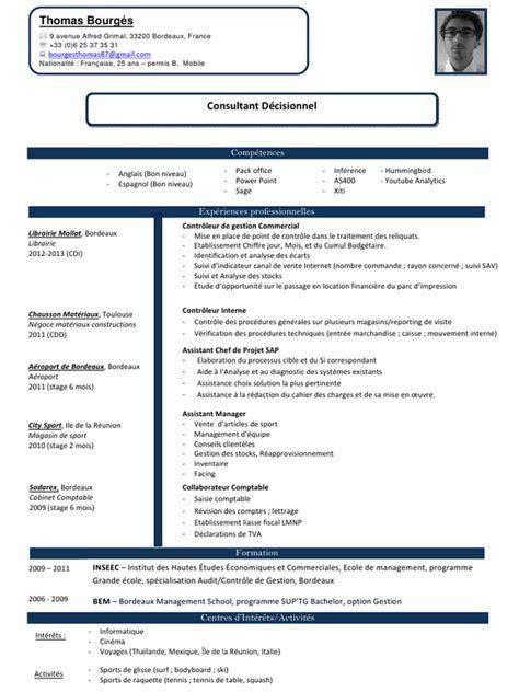 Cabinet Comptable En Anglais by Cv Consultant Junior Bourg 233 S Doc Par Cv