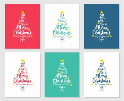 text     merry christmas   happy  year pine vector premium