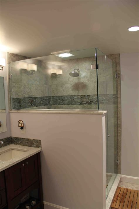 Half Bathroom Tile Ideas by Reinforcing A Half Wall