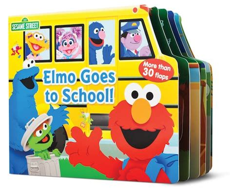 Elmo Goes To School Left The Flap Board Book elmo goes to school scholastic club