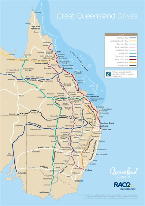 printable qld road map queensland drive map outback queensland australia