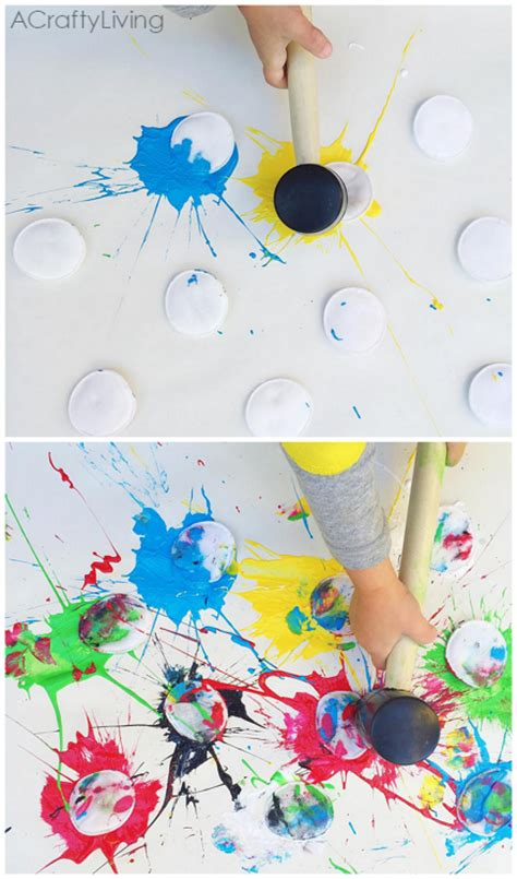 painting toddlers paint splat activity for crafty morning