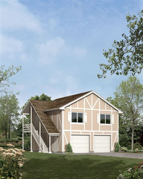 two car garage with apartment mother earth news 2 car garage apartment tudor e plan