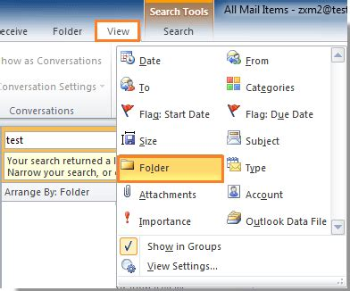 Email Search Results How To Show Folders In Search Results In Outlook