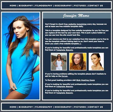 biography website templates free download mobile version website templates drupal fashion model