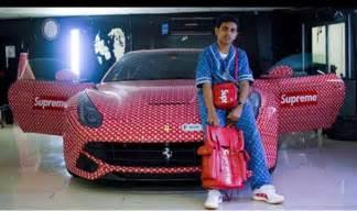 Luxury Desk Rich Dubai Teen Wraps His Ferrari In Supreme X Louis