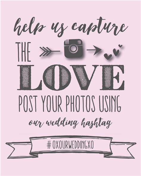 Desine Printable Wedding Invitation Templates Wedding Hashtag Sign Template Free
