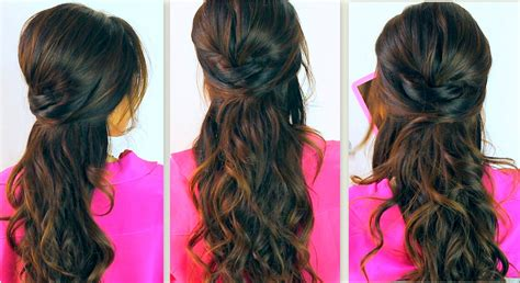 back to school hairstyles for hair back to school hairstyles everyday poofy curly half up updos for medium hair