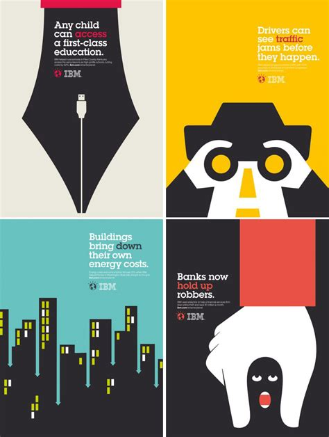 ad design layout ideas paul rand s silouette is sooo creative take a close look