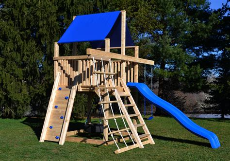large wooden swing sets cedar swing sets the bailey space saver climber