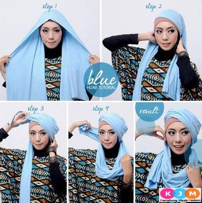 tutorial hijab pashmina kaos terbaik modelbusana cara memakai jilbab pashmina