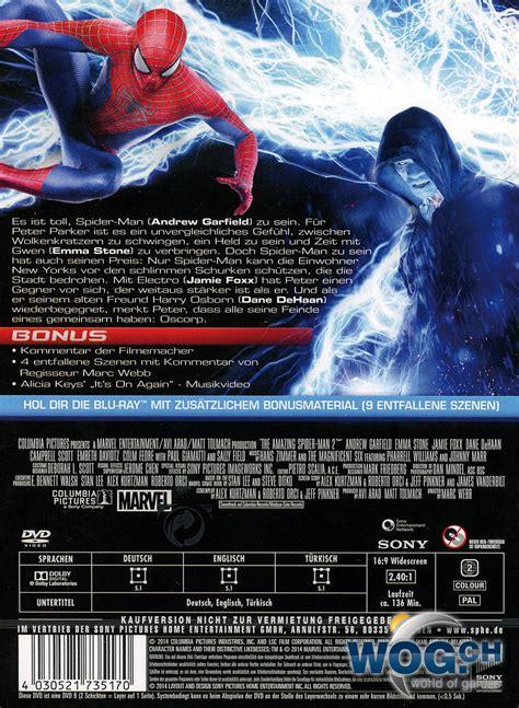 wann kommt the amazing spider 2 auf dvd the amazing spider 2 dvd filme world of