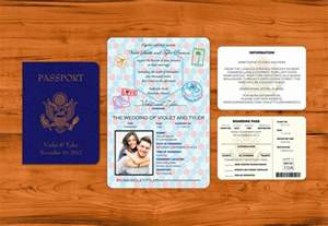 passport wedding invitations template passport wedding invitation template wedding and bridal