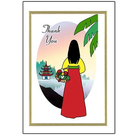 Thank You Letter Korean Korean Thank You Note Cards Mandys Moon Personalized Gifts