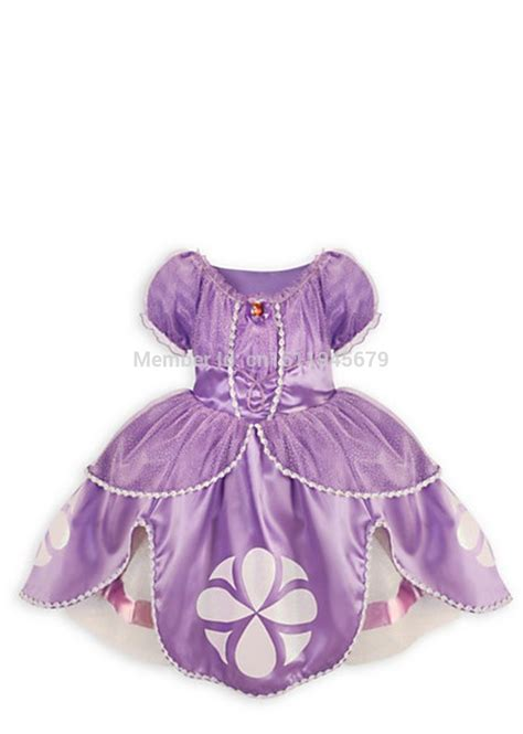 Dres Big Sofia casual frozen dress sofia princess purple fluffy dress big
