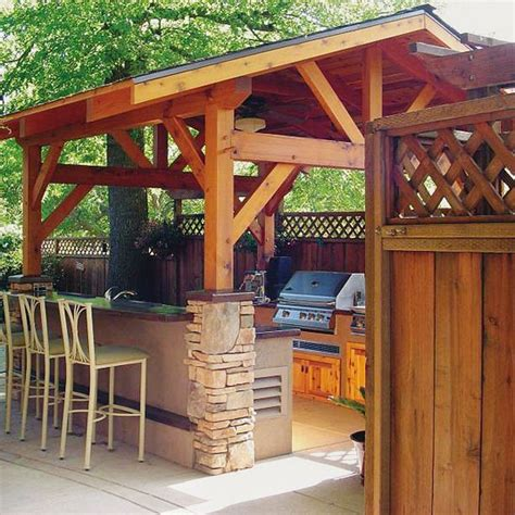 covered outdoor kitchen plans covered outdoor kitchens househoneys