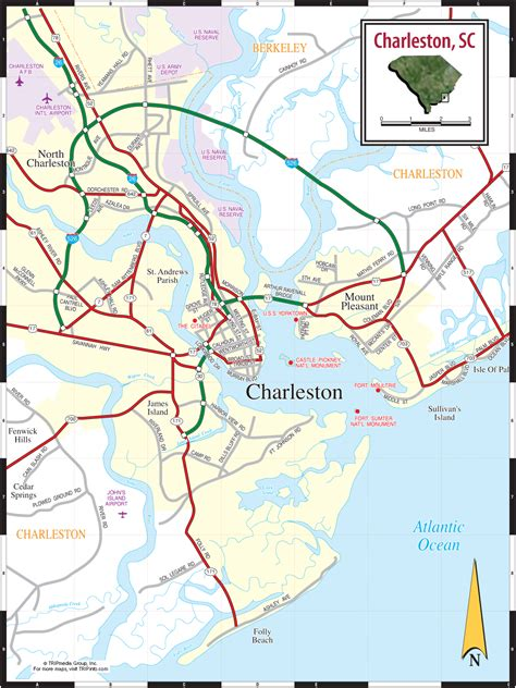 charleston sc map charleston south carolina city map charleston south carolina mappery