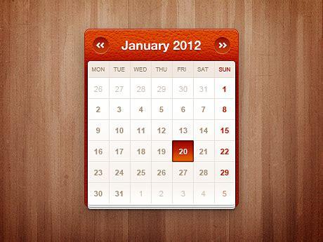 S Calendrier Widget Calendar Widget Free Psd File