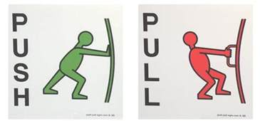icon visual alternatives of representing the push