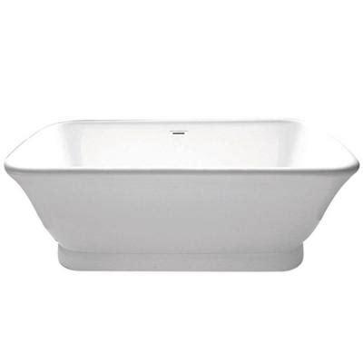 Oversized Freestanding Bathtub Aqua Large Modern 5 9 Ft Acrylic Center Drain