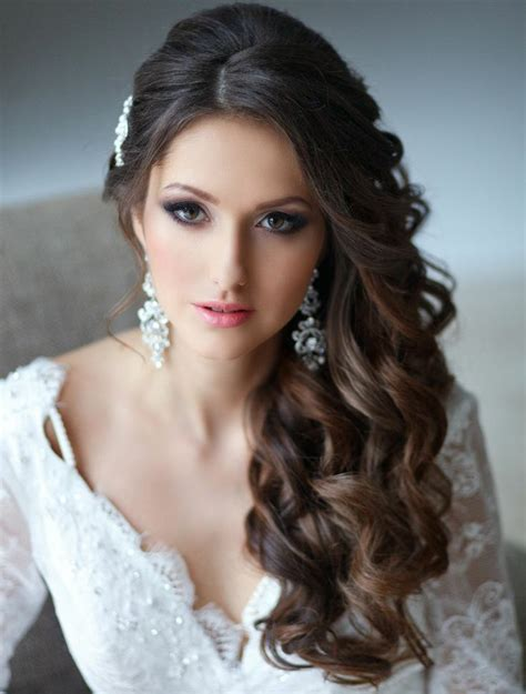 Curly Hairstyles To The Side For Wedding wedding side swept curly hairstyles 2015