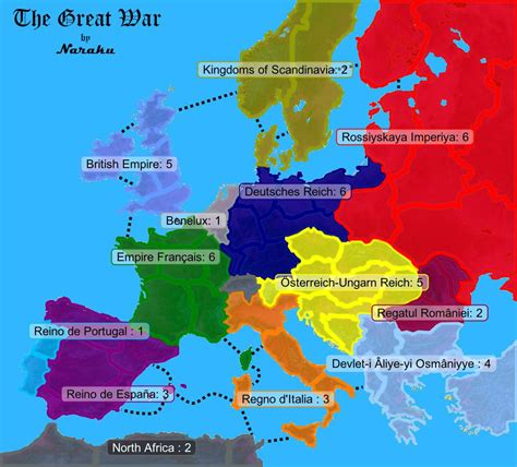 the great war the great war map