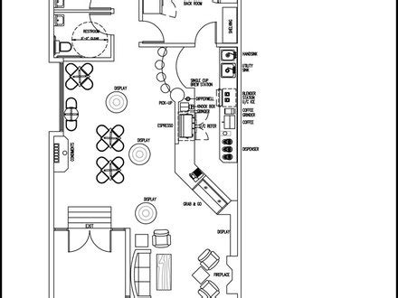 coffee shop floor plan layout woodworking shop layout plans 16 x 24 small woodworking