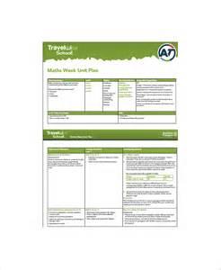 sle unit plan 7 exle format