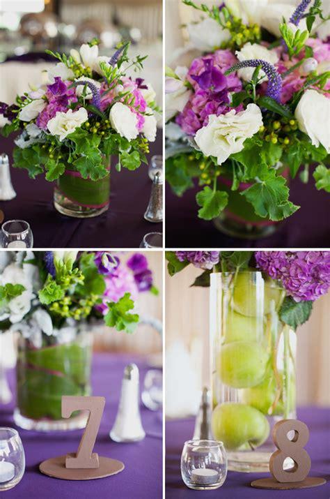 purple and green wedding centerpieces purple weddings the destination wedding jet fete by bridal bar part 2