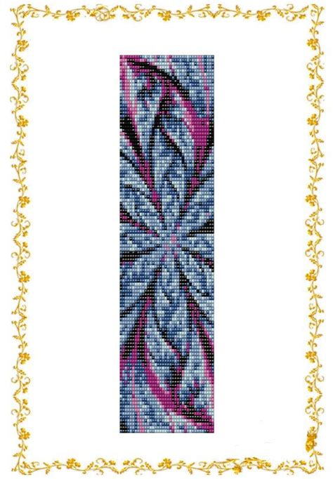 bead loom flower patterns loom beading pattern bracelet cuff abstract flower