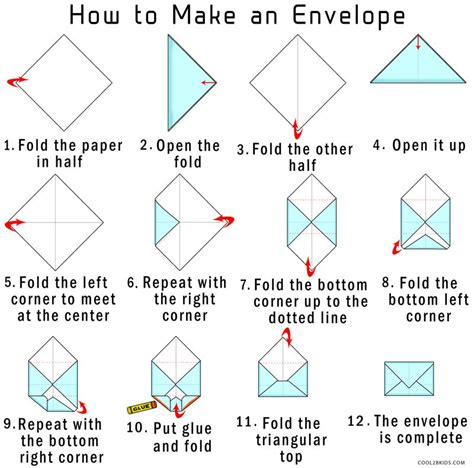 Paper Envelope Fold - how to make your own origami envelope from paper