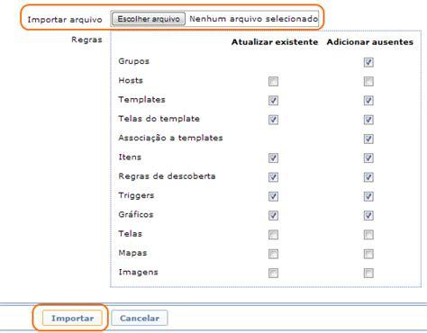zabbix discovery tutorial processo importa 231 227 o de arquivos xmladail spinola adail