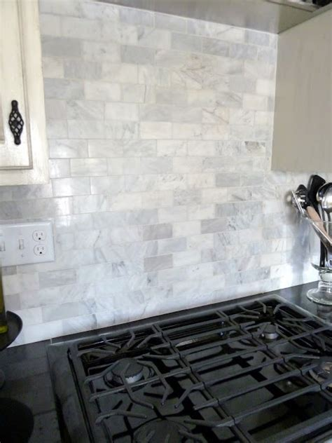marble subway tile kitchen backsplash marble subway tile backsplash home ideas