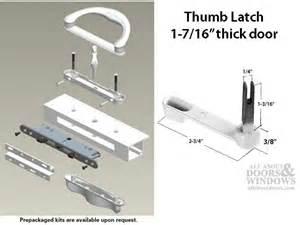 Milgard Patio Door Parts Milgard V 4 Latch Double Locking Handle 1 7 16 Thick Door