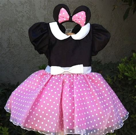 Dress Jw 13 Minnie Mouse D pink minnie mouse costume dress set 65 00 via etsy