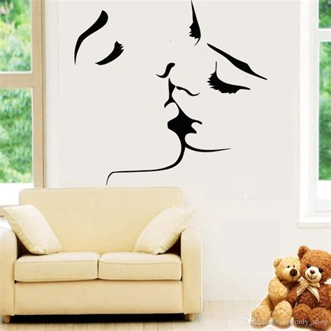 adult bedroom wall stickers sexy love kiss vinyl wall stickers on the walls bedroom wedding decorative wall