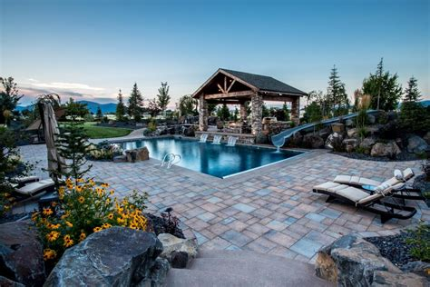 backyard luxuries luxury backyard with pool and gazebo accessible by